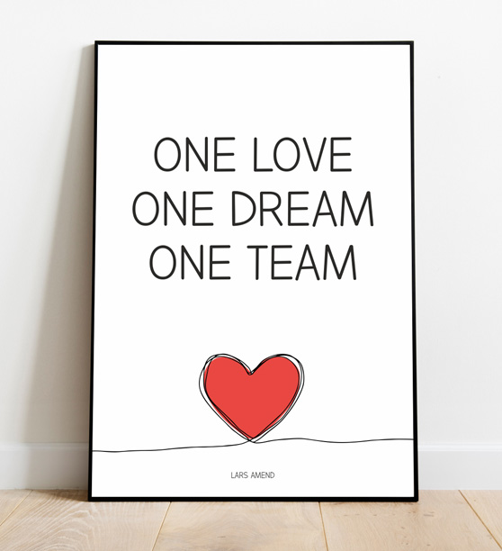 Poster 5: One Love, One Dream, One Team (Classic Design)