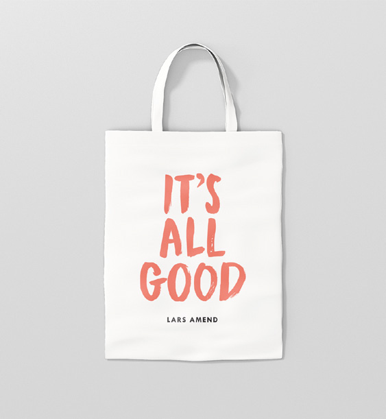 Tote Bag weiß, Lars Amend